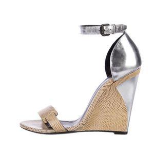 Bottega Veneta Lizard Wedge Sandals